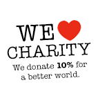 We donate 10% of all income for a better world.